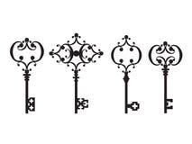 Insieme delle chiavi antiche illustrazione vettoriale