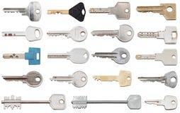 Insieme delle chiavi differenti della porta Fotografia Stock Libera da Diritti