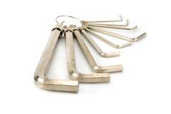 Insieme delle chiavi esagonali Fotografia Stock Libera da Diritti