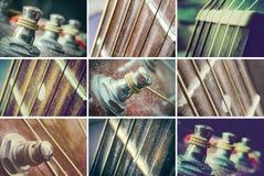 Insieme delle chitarre Fotografia Stock