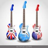Insieme delle chitarre di vettore Immagini Stock