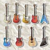 Insieme delle chitarre elettriche Fotografia Stock Libera da Diritti