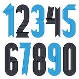 Insieme delle cifre alla moda fresche di vettore, raccolta moderna di numeri I numeri audaci condensati funky da 0 a 9 possono es illustrazione di stock
