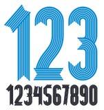 Insieme delle cifre funky fresche di vettore, raccolta moderna di numeri I numeri condensati audaci moderni da 0 a 9 possono esse illustrazione di stock