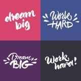 Insieme delle citazioni ispiratrici e motivazionali Fotografia Stock