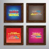 Insieme delle citazioni motivazionali Fotografia Stock