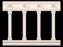 Insieme delle colonne di pietra negli stili differenti isolate royalty illustrazione gratis