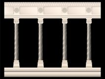 Insieme delle colonne di pietra negli stili differenti isolate illustrazione di stock