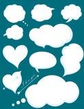 Insieme delle comunicazioni romantiche della nuvola o di amore Vettore Illustratio Fotografia Stock Libera da Diritti
