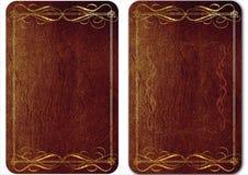 Insieme delle coperture d'annata del cuoio per i libri. 01 Royalty Illustrazione gratis