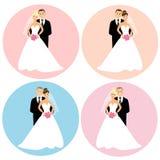 Insieme delle coppie di nozze Fotografie Stock Libere da Diritti