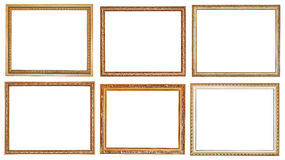 Insieme delle cornici di legno classiche antiche Fotografia Stock