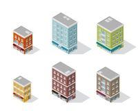 Insieme delle costruzioni di appartamento Fotografia Stock