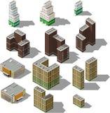 Insieme delle costruzioni isometriche moderne Immagine Stock Libera da Diritti