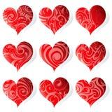Insieme delle cuore-figure Fotografia Stock Libera da Diritti