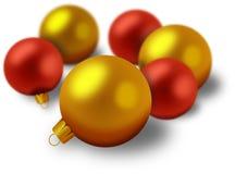 Insieme delle decorazioni di Natale Fotografia Stock Libera da Diritti