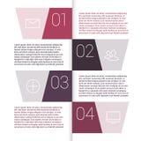 Insieme delle disposizioni infographic del modello Diagramma di flusso Fotografia Stock Libera da Diritti