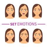 Insieme delle emozioni royalty illustrazione gratis