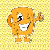 Insieme delle emozioni della tazza del fumetto (tazza) Fotografia Stock Libera da Diritti