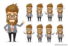 Insieme delle emozioni per l'uomo di affari Immagine Stock