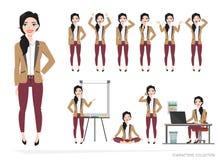Insieme delle emozioni per la donna di affari Immagini Stock