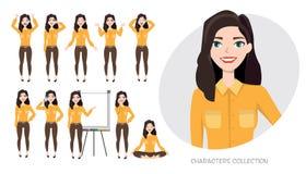 Insieme delle emozioni per la donna di affari Immagini Stock Libere da Diritti