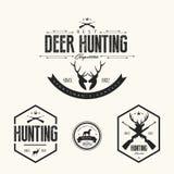 Insieme delle etichette d'annata e dei distintivi di caccia Fotografie Stock
