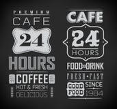Insieme delle etichette del caffè Immagine Stock