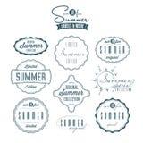 Insieme delle etichette dell'annata riferite estate Immagine Stock Libera da Diritti