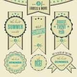 Insieme delle etichette dell'annata riferite eventi di estate Fotografie Stock