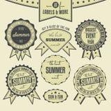 Insieme delle etichette dell'annata riferite eventi di estate Immagine Stock Libera da Diritti