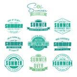 Insieme delle etichette dell'annata riferite vendite di estate Fotografia Stock Libera da Diritti