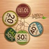Insieme delle etichette di ecologia Fotografia Stock