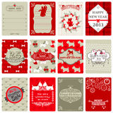 Insieme delle etichette di Natale dell'annata Immagine Stock Libera da Diritti