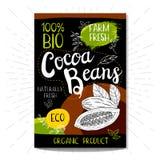Insieme delle etichette disegnate a mano alimento, spezie Fotografia Stock Libera da Diritti