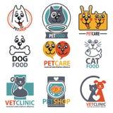 Insieme delle etichette e degli autoadesivi dell'animale Fotografie Stock