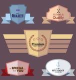 Insieme delle etichette e dei distintivi di vettore Fotografia Stock