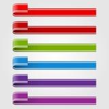 Insieme delle etichette e dei nastri colorati Fotografia Stock