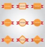 Insieme delle etichette e delle etichette colorate illustrazione di stock