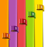 Insieme delle etichette multicolori dell'etichetta Fotografie Stock