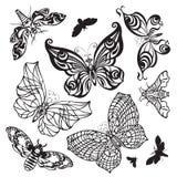 Insieme delle farfalle Royalty Illustrazione gratis