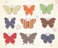 Insieme delle farfalle per progettazione. Illustrazione Vettoriale