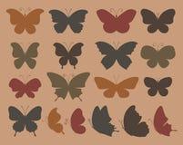 Insieme delle farfalle per progettazione. Illustrazione di Stock