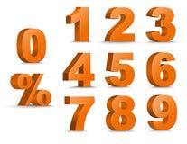 Insieme delle figure e delle percentuali di colore 3D Fotografie Stock