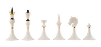 Insieme delle figure nere di scacchi isolate Fotografie Stock