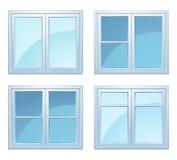 Insieme delle finestre Fotografia Stock