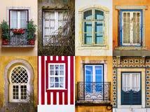 Insieme delle finestre Immagini Stock