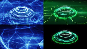Insieme delle forme futuristiche del cerchio di fantascienza Immagini Stock Libere da Diritti