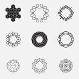 Insieme delle forme geometriche, cerchi, Immagine Stock Libera da Diritti