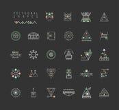 Insieme delle forme geometriche minime Fotografia Stock